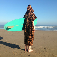 Leopard Print 'CoverUp' Surf changing towel