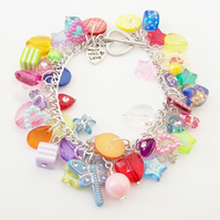**Reserved for Hannah** Totally Loaded Goodies Charm Bracelet