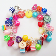 Totally Loaded Goodies Charm Bracelet