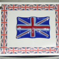 Glass artwork - Union Jack Best of British - Picture frame
