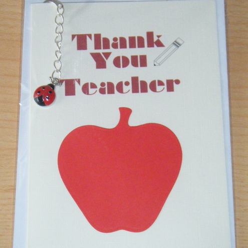 Thank you Teacher Bookmark Gift Card