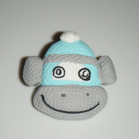 George - Sockafella Sock Monkey Brooch