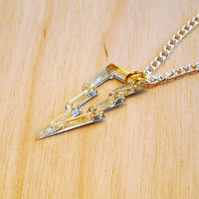 Tiny Lightning Bolt Charm Necklace