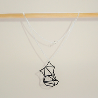 Origami Fox Animal Necklace