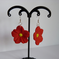 Red & Green Polymer Clay Earrings