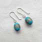Blue Barrel Earrings