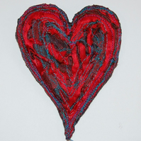 Valentines Heart Brooch Card
