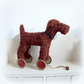 Large Irish Terrier on vintage Meccano wheels