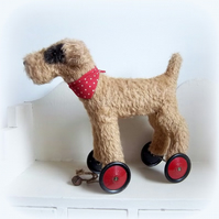 'Toby'  a large dog on vintage Meccano wheels