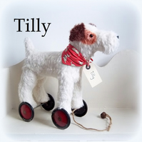 'Tilly' a large Terrier on vintage Meccano wheels