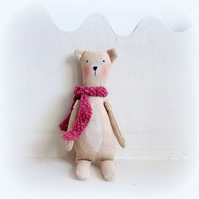 little bear in a box             heather pink scarf