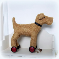 Ollie a large vintage style dog on wheels