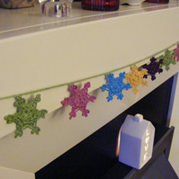 SALE Crochet snowflake garland  Free uk postage