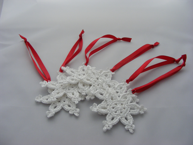 SALE Crochet snowflake tree decorations