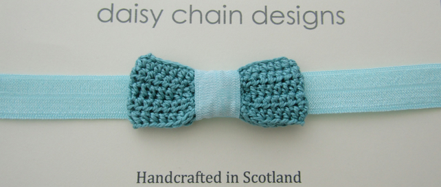 SALE Crochet bow head band