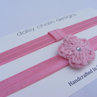 Baby girl headband set