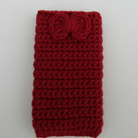 Crochet mobile phone case
