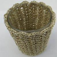 SALE Crochet candle holder