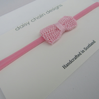 Crochet bow headband, back to school, party bags
