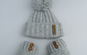 Baby girl hat and bootie sets