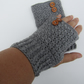 Crochet fingerless gloves