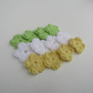 Crochet flowers 12pcs