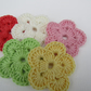 Crochet flowers 5pcs
