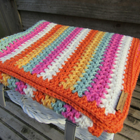 Crochet textured baby blanket