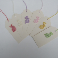 Easter bunny gift tags x 6