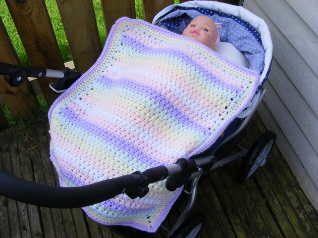 Crochet dolls blanket, premature baby blanket