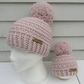 Crochet mummy and me hat set
