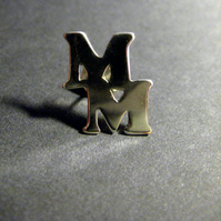 Sterling Silver Monogram Initial Pin Handmade to order Personalise