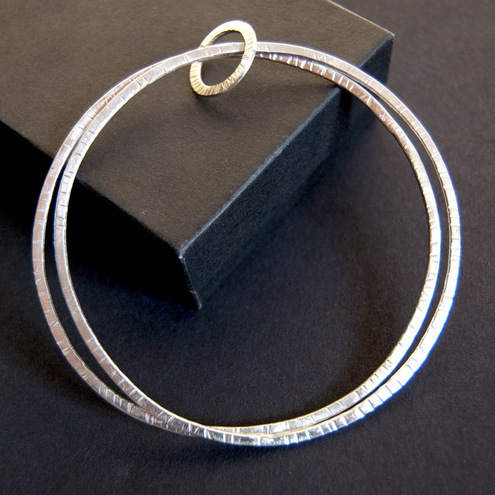 Handmade Sterling Silver Duo Bangle