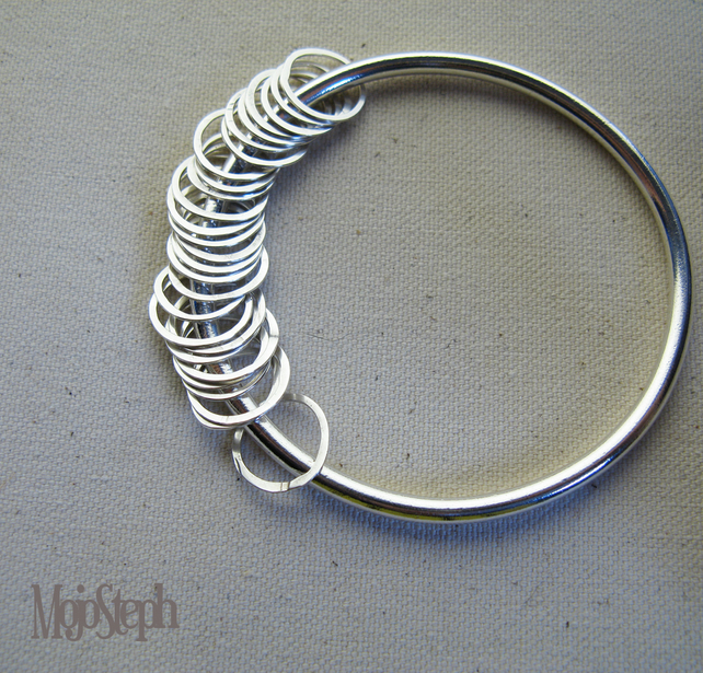 Circles of Life Silver Bangle