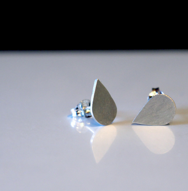 Silver Raindrop Earrings - Handmade