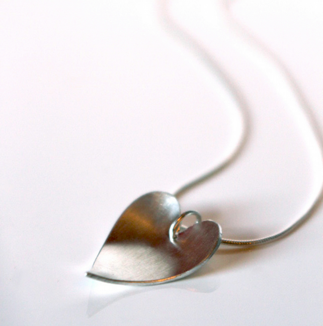 Be Mine' Sterling silver handmade heart pendant