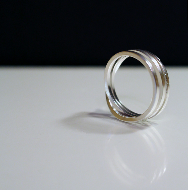 Structurally Sterling Silver Wrap over Ring - Handmade