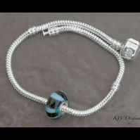 Sterling Silver Core Lined Glass Bead