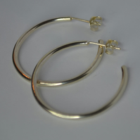 Handmade Sterling Silver Classic Hoop Earrings