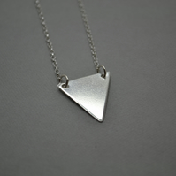 Sterling Silver Iso Triangle Pendant. Isoceles Triangle. Geometric Jewellery