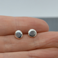 Recycled Nugget Faceted Stud Earrings