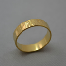 Bark Hammered Ring. Hand Crafted in Recycled 9ct Gold. 5mm