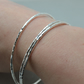 Hammered Eco Silver Bangles. Set of 3. Hallmarked Recycled Sterling Silver