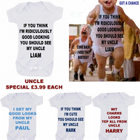 BODYSUIT UNCLE SPECIAL MESSAGE ME THE  SLOGAN YOU LIKE