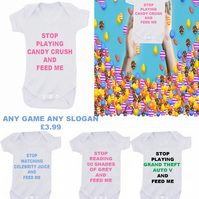 BODYSUIT  candy crush MESSAGE ME THE  SLOGAN YOU LIKE