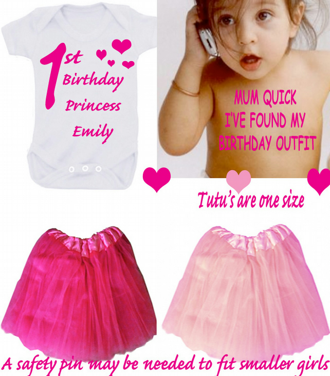 BIRTHDAY  bodysuit TUTU SETS  ANY NAME CAN BE ADDED