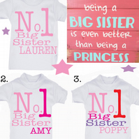 T-shirt  Big SISTER EXCLUSIVE RANGE   MESSAGE ME the name if needed