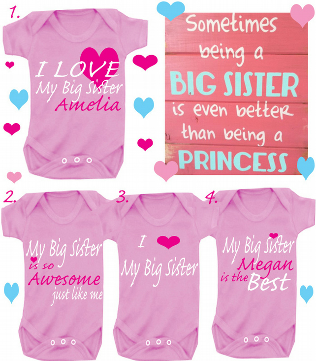 BODYSUIT BIG SISTER CHOOSE A SLOGAN