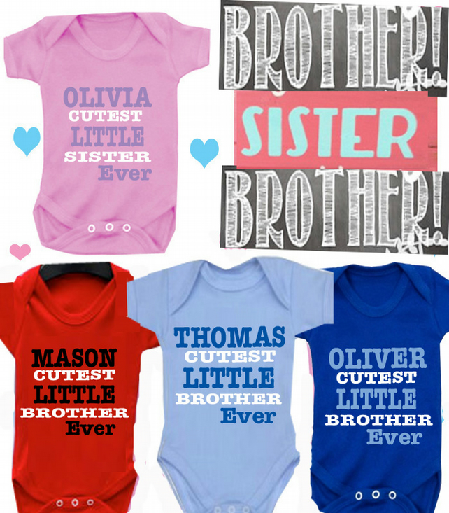 BODYSUIT BROTHER OR SISTER  MESSAGE ME for a different FAMILY MEMBER