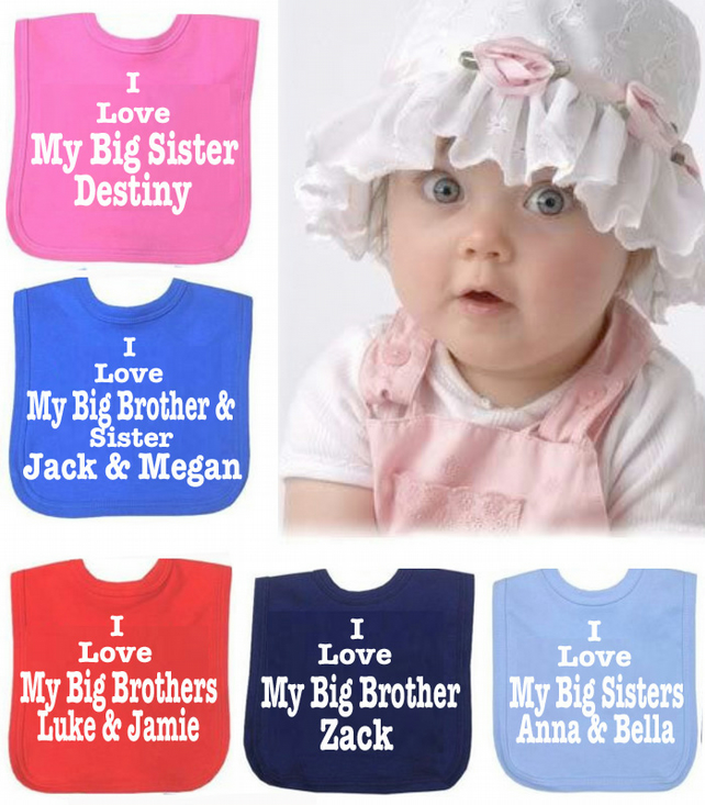 BIB  SISTER & BROTHER WITH NAMES